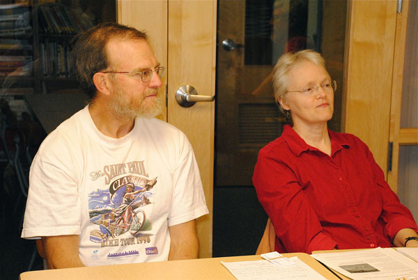 Jim L and Mary J P, Peace & Social Concerns Meeting