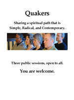 Quaker Quest flyer